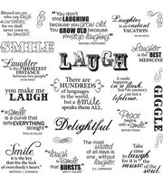 Fiskars Quotes Clear Stamps Laugh With Me, , hi-res
