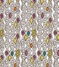 Southwest Fabric White Wash Diamond Cotton