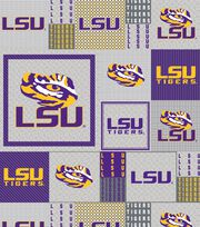 "Louisiana State University Tigers Fleece Fabric 58""-Gray Block, , hi-res"
