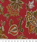 Keepsake Calico Cotton Fabric-Metabelle Garnet