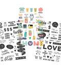 Domestic Bliss Clear Stickers 4\u0022X6\u0022-(1) Color & (2) Black