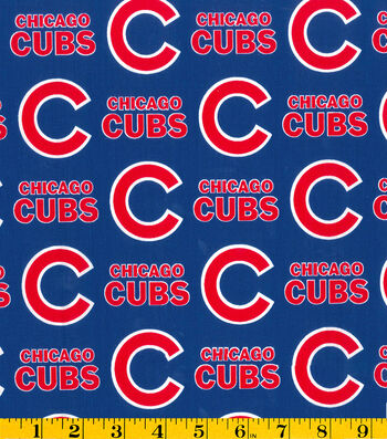 Chicago Cubs Cotton Fabric 58''-Logo