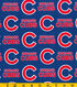 Chicago Cubs Cotton Fabric 58\u0027\u0027-Logo