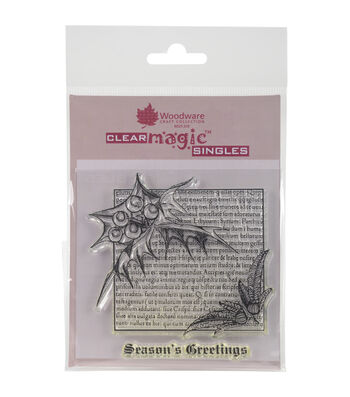 Woodware Craft Collection Clear Magic Stamp-Holly Script