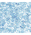 Glass Seed Beads-Transparent Turquoise, 10/0, 20 grams