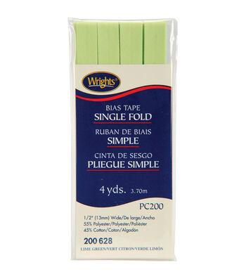 Wrights Single Fold Bias Tape-1/2''W x 4yds