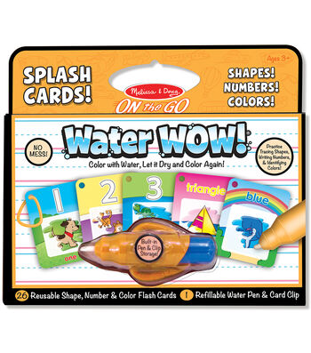 Melissa & Doug On The Go Water Wow! Splash Cards-Shapes, Numbers & Colors