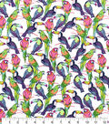 Snuggle Flannel Fabric 42\u0022-Tropical Toucans