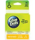 Glue Dots .5\u0022 Pop Up Dot Roll-75 Clear Dots