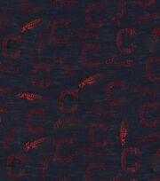 "Cleveland Indians Knit Fabric 60""-Foil Logo, , hi-res"