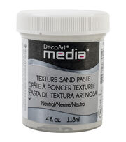 DecoArt Media Texture Sand Paste 4oz-White , , hi-res