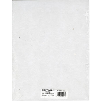 "Grafix Medium Weight Chipboard Sheets 8.5""X11"" 25/Pkg-White"