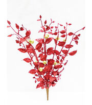 Blooming Holiday Christmas 16'' Leaf & Berry Spray-Red & Gold, , hi-res