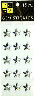 DCWV Clear Gem Stickers-Stars