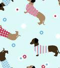 Snuggle Flannel Fabric 42\u0022-Dachshunds In Sweaters