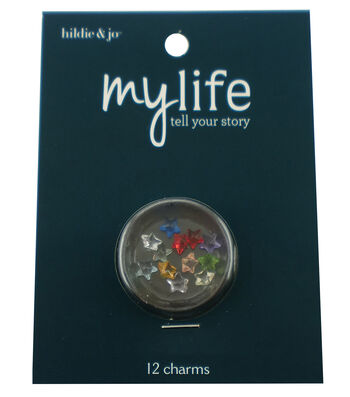 hildie & jo™ My Life 12 Pack Mini Star Locket Charms-Multi Color