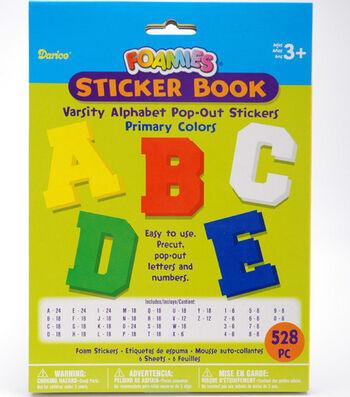 Darice Foamies Alphabet Sticker Book-528PK/Varsity