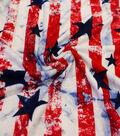 Knit Rayon Spandex Fabric 58\u0022-Stars & Stripes