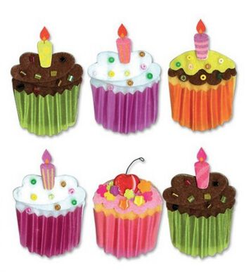 Jolee's Boutique Themed Ornate Stickers-Cupcakes