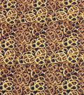 Novelty Cotton Photo Real Fabric 44\u0022-Pretzels