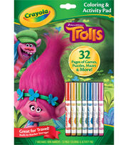 Crayola Dreamworks Trolls Coloring & Activity Pad, , hi-res