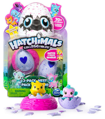 Hatchimals CollEGGtibles Collectible 2 Pk Toy Pet & Nest