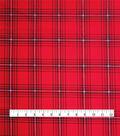 Stretch Crepe Fabric 58\u0022-Red Plaid