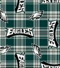 Philadelphia Eagles Fleece Fabric 58\u0027\u0027-Plaids