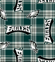 "Philadelphia Eagles Fleece Fabric 58""-Plaid, , hi-res"