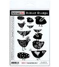Darkroom Door Cling Stamps 7\u0022X5\u0022-Carved Birds Vol. 1