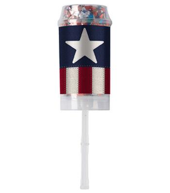 Americana Patriotic 10 pk Confetti Poppers-Stars & Stripes