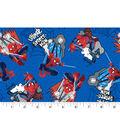 Marvel Comics Spiderman Cotton Fabric 43\u0027\u0027-Web Swinging