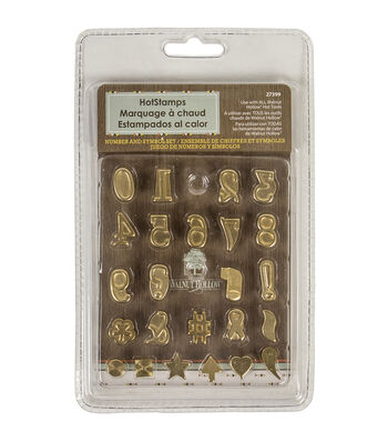 Walnut Hollow Hot Stamps Number & Symbol Set 24 pcs