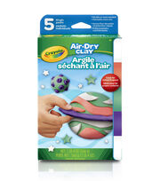 Crayola Air Dry Clay Variety Pack 5pc-Assorted Brights, , hi-res