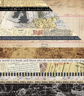 Transatlantic Travel Double-Sided Cardstock 12\u0022X12\u0022-Border Strips