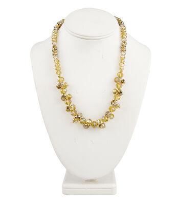 Short Cluster Necklace Champagne