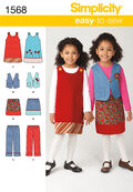 Simplicity Pattern 1568A 3-4-5-6-7--Child Sportswear