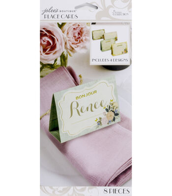 Jolee's Boutique Parisian Vintage Floral Place Cards