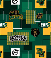 Baylor University Bears Cotton Fabric 43''-Modern Block, , hi-res