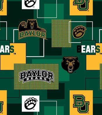 Baylor University Bears Cotton Fabric 43''-Modern Block