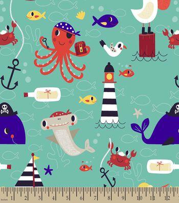 Sea Life Print Fabric