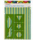 We Made It by Jennifer Garner™ Fabric Sticker Sheets- Blue & Green