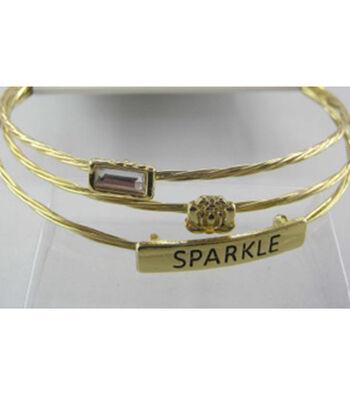 Bangle Expressions Gold Bracelet Assortment 113
