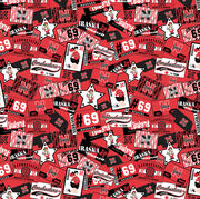 "University of Nebraska Cornhuskers Cotton Fabric 43""-Logo, , hi-res"