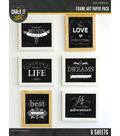 Chalk it Now - Frame Art Paper Pack