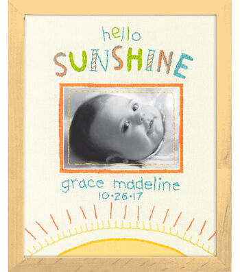 Dimensions® 8''x10'' Birth Record Embroidery Kit-Hello Sunshine