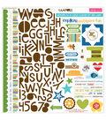 Bella Blvd Campout Treasures & Text Cardstock Stickers