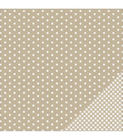 American Crafts Basics Dot Double-Sided Cardstock, , hi-res