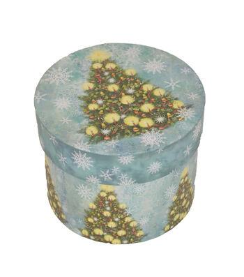 Maker's Holiday Medium Round Box-Christmas Tree