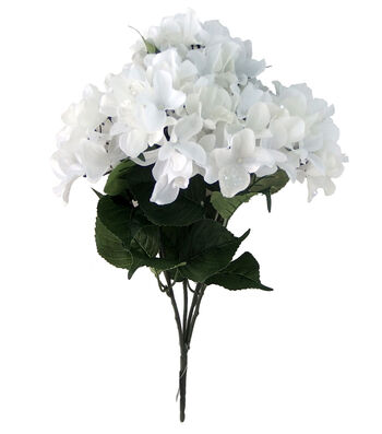 Blooming Holiday Christmas 20'' Hydrangea Spray-White